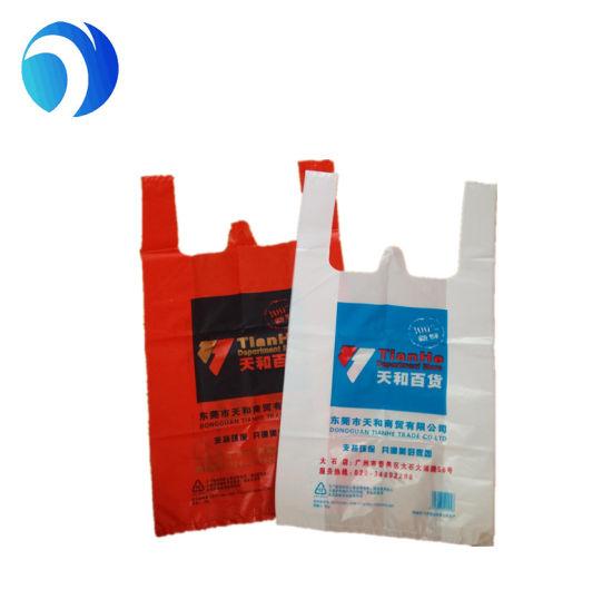 Made In China Custom Printed T Shirt Manufacturersbulk White Hdpe Plastic Bag