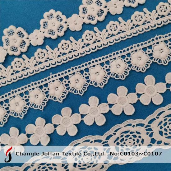 Cheap Water Soluble Polyester Lace for Dress Material (C0103)