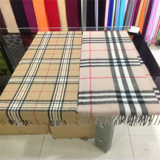 Fashion Checked Cashmere Scarf and Shawl for Gifts for Handcraft