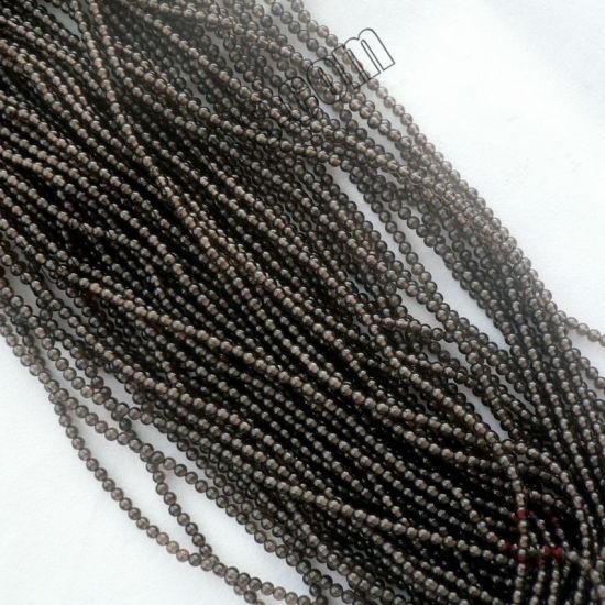 Loose Strand Gemstone Smoky Quartz Small Size 2mm3mm Mini Beads for Jewelry Making