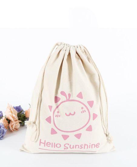 c99eb77e2 Christmas Gift Small Cotton Drawstring Backpack Custom Logo Printing Custom Drawstring  Bags