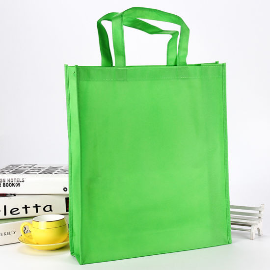 China PP Biodegradable Shopping Rope Handle Newspaper Reusable Promotional Non Woven Bag pictures & photos