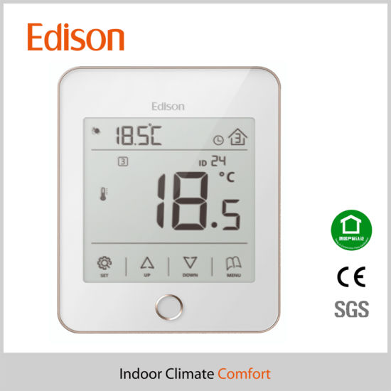 LCD Touch Screen Programmable Heating Room Thermostat pictures & photos