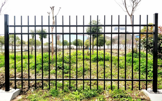 High Quality Black Galvanized Steel Garden Fence And Rail