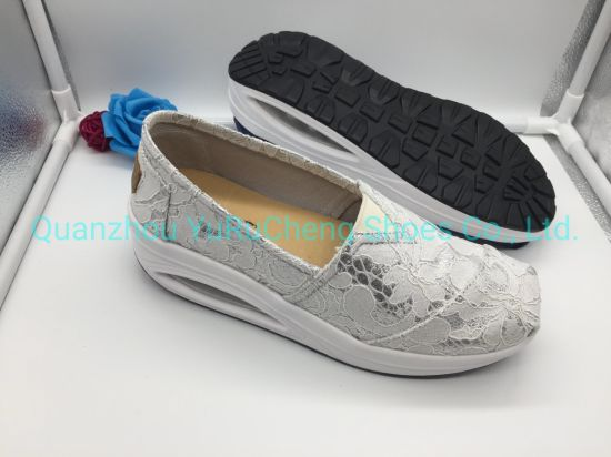 Lace Shoe with Air Cushion Outsole
