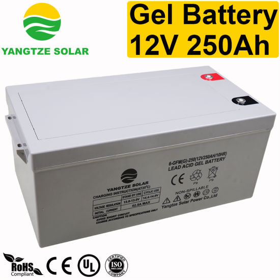 Ce UL ISO Certificated 12V 250ah Gel AGM Deep Cycle Solar Inverter Battery