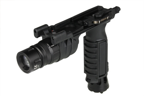 dbc08cc52e5c9 Tactical Shooting Hunting M93 Airsoft Gun Grip with LED Weapon Flashlight  Infrared Light