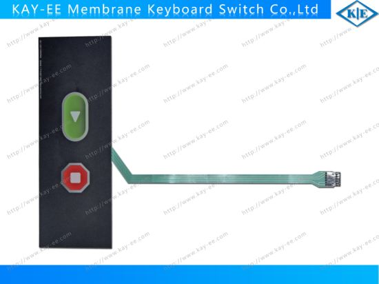 Gradient Print Overlay Push Button Membrane Keypad Switch