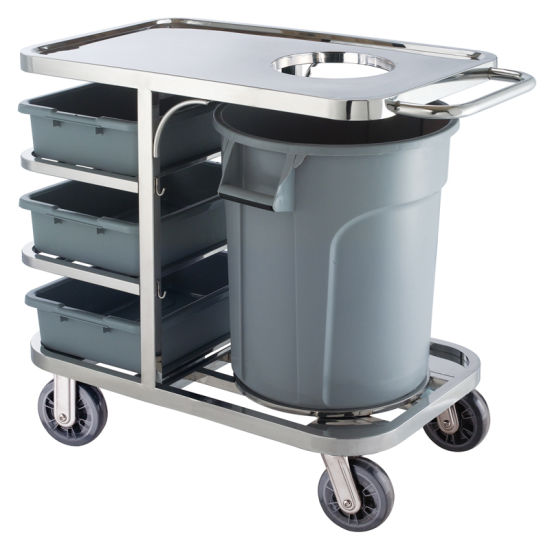 Hotel Metal Vehicle Service Carrier Cleaning Trolley Cart (HS-38)
