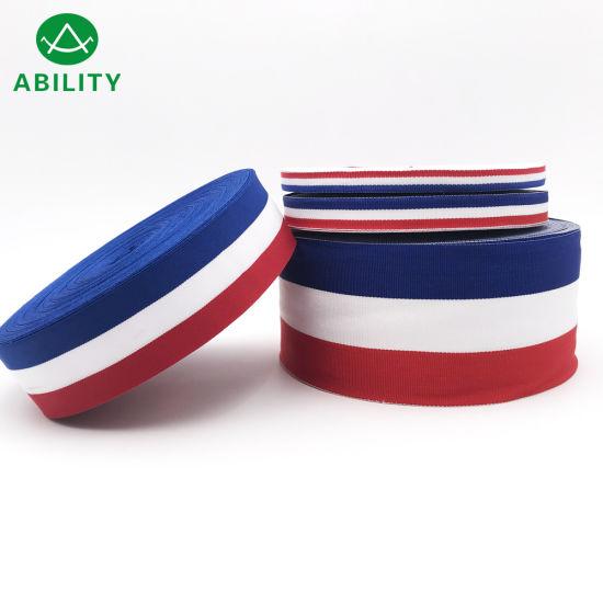 100% Polyester Hot Sell Flag Stripe Webbing