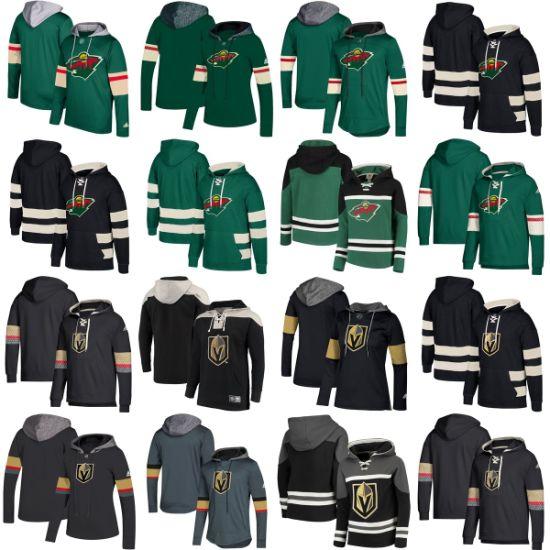 Wholesale 2019 Vegas Golden Knights Minnesota Wild Sweaters Pullovers Hoodies