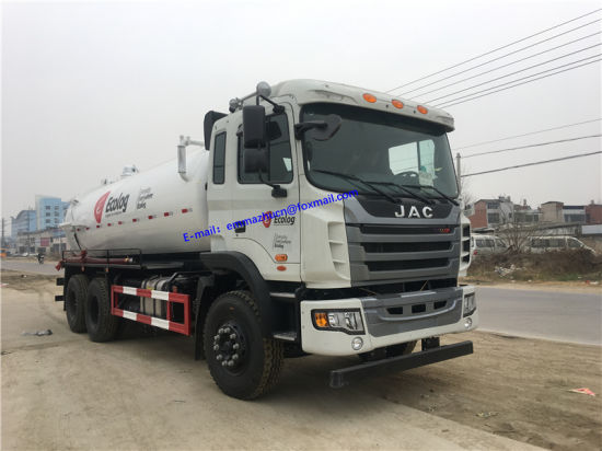 JAC 6X4 Type 14m3 Toilet Sewage Suction Truck Cleaning Sewer Vacuum Truck  for Sale