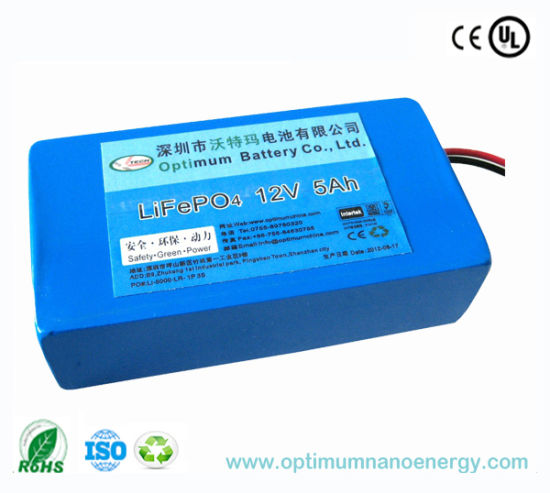 Rechargeable 12V 5ah Lithium Battery for LED Light pictures & photos