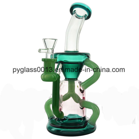 Manufacture 2018 14.4mm Oil Rig Recylar Glass Smoking Water Pipe