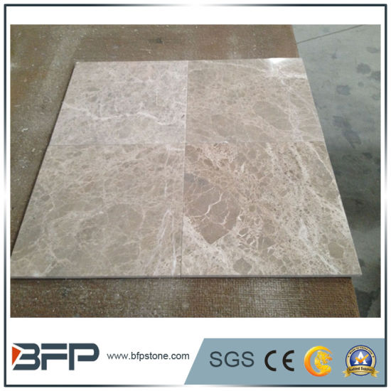 Light Grey Net 10mm Thick Marble Tile for Interior Decoration with DIY Installation pictures & photos