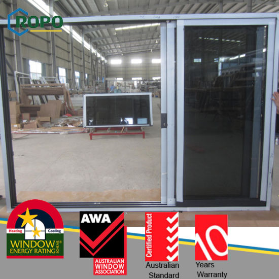 Hot Sale PVC Glass Sliding Door, UPVC Imapct Glass Door pictures & photos