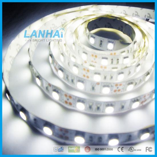 12V/24V SMD 5050 60LED Nature White Nw 4000K Flexible Ribbon Bar LED Strip Light