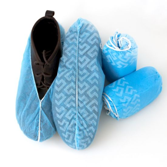 2016 Blue Color Disposable Polypropylene Shoe Covers/Protectors pictures & photos
