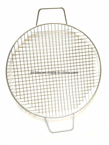 Stainless Steel Wire Basket Grill Mesh Round Frying Mesh Grill Basket Net for Picnic Barbecue Grill Wire Mesh