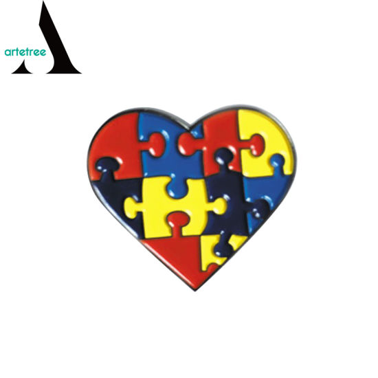 a1918ee54e6 Walking Ribbon Autism Awareness Lapel Badges