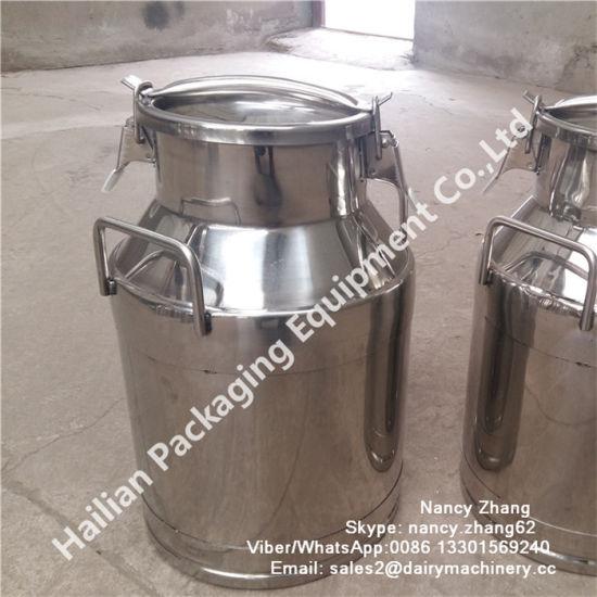 25 Liter Sanitary Stainless Steel Transport Milk Barrel for Milk