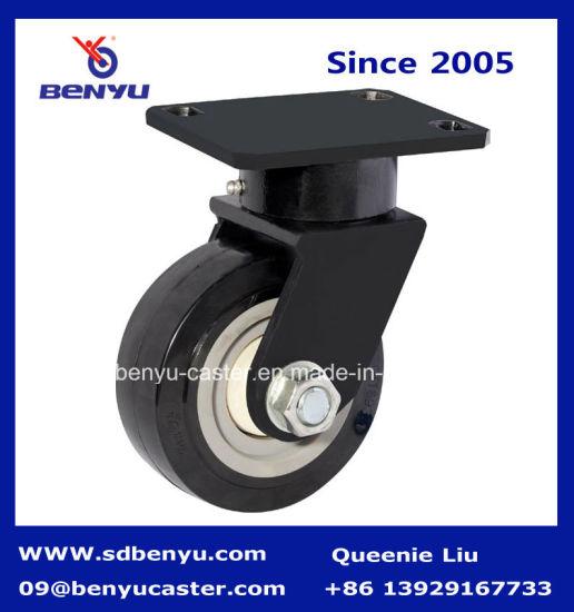 Large Loading Capacity Swivel Black Polyurethane Caster