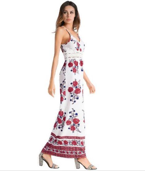 Fashion Elegant Women Sexy Vest Maxi Fashion Bodycon Long Dress Bohemian Sling Dress