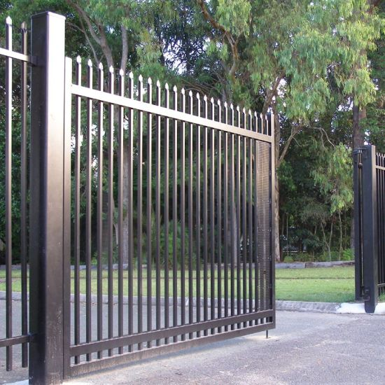 China beautiful house simple sliding iron main gate - Sliding main gate design for home ...