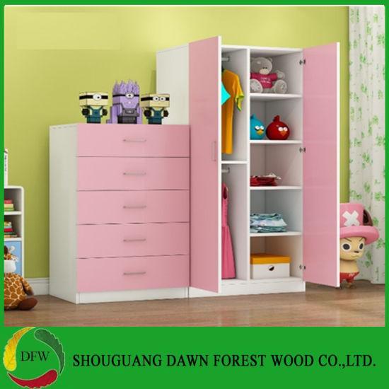 Simple Bedroom Sets Pink Children S Wardrobe With Double Open Doors