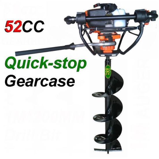 The Latest Version Earth Auger Ground Drill with Brake System Quick Stop  Auger Drill Hole Digger