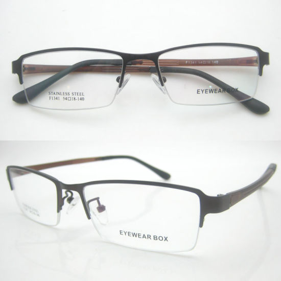 5b4832c37be8 China Classic Simple Metal Half Frame Optical Glasses - China ...
