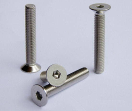 Alloy Steel Hex Socket Countersunk Screws DIN7991 pictures & photos
