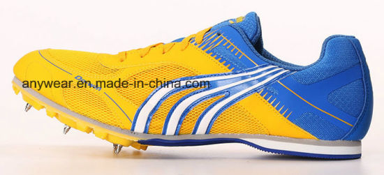 Athletic Racing Sports Track Running Shoe Spike Footwear for Men and Women (405) pictures & photos