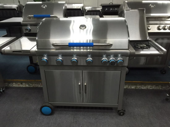 Europe Hot Selling Barbeque Grill Gas BBQ with 6 Burner
