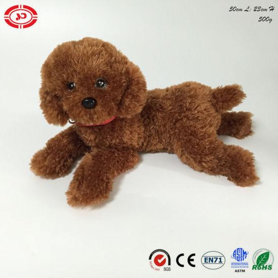 Plush Stuffed Soft Animal Lying Ce Dog Simulation Quality Toy