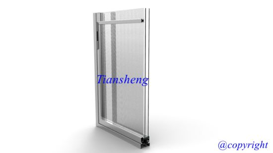 Double Glazing Aluminum Sliding Door with Mosquito Net pictures & photos