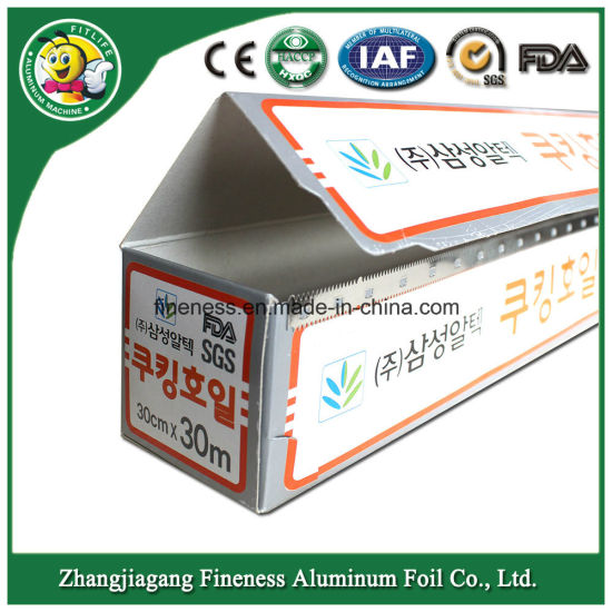 Aluminum Foil Household Foil Aluminum Alloy Aluminum Foil Roll pictures & photos