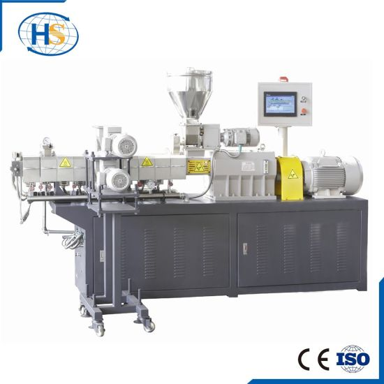 China Haisi Factory Based Plastic /Vinyl/PVC Twin Screw Extrusions Machine Tse-30 pictures & photos
