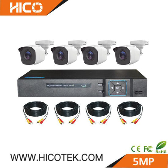 5MP 4CH 8 Channel CCTV DVR System Surveillance Kits Ahd Security Video Camera Hikvision Dahua