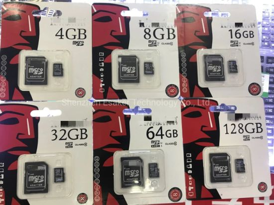 Hot Selling Wholesale Factory Price Memory Cards Class 10 High Speed 8GB 16GB 32GB 64GB 128GB Full Capacity Micro SD Card Logo Customize Accept Memory TF Card