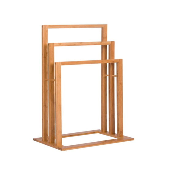 Factory 3-Tier Bamboo Bathroom Towel Holder Rack