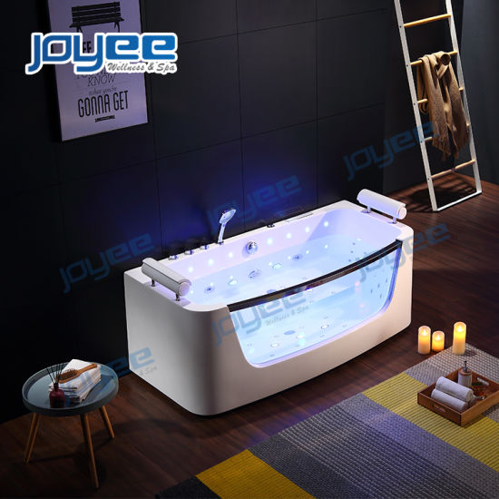 China Luxury Hot Sale Bath Room Couple Massage Soaking Bathtub With Glass Window China Indoor Jacuzzi Jacuzzi Bathtub
