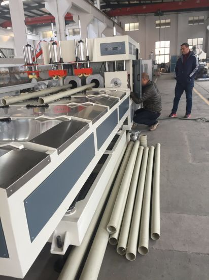 Automatic Single/Double Oven Water& Electric Plastic PVC Pipe Making Socketing Belling Machine