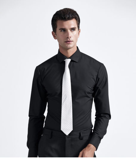 Customize Polyester Business Long Sleeve Mens Dress Shirts