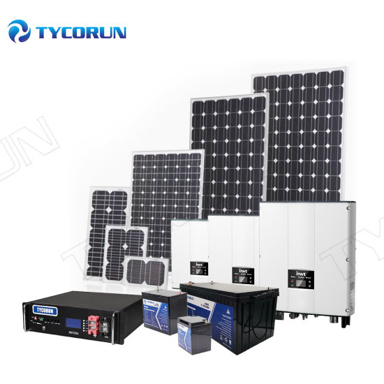 Tycorun Home or Commercial Solar Power Panels System 5kw 10kw 20kw 50kw 100kw 200kw off Grid on Grid Solar Energy System