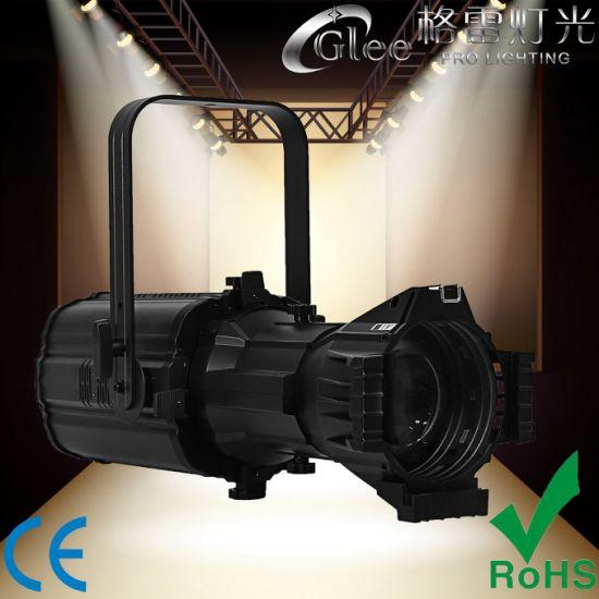 400W Rgbal COB LED Theater Prefocus Profile Ellipsoidal Leko Spotlight