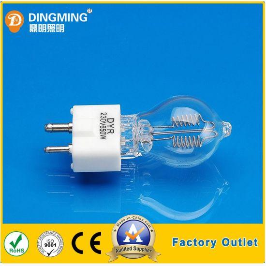 Single End White Light Photo Optic Halogen Bulb