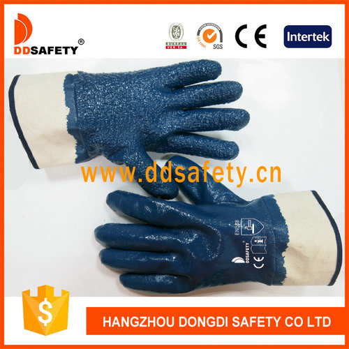 Cotton with Nitrile Dipped Handling Rough Materials Glove