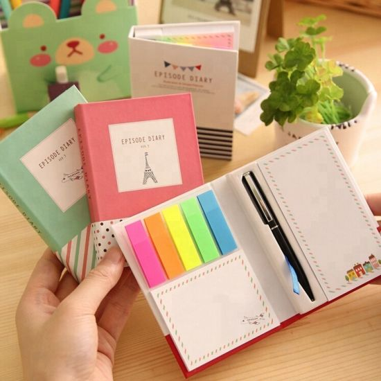 Custom Mini Memo Sticky Notepad with Pen