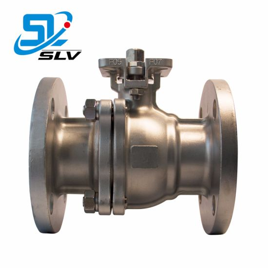 ANSI Class150 2-150 CF8 CF8m 2 Pieces Flanged Ball Valve with High Platform pictures & photos
